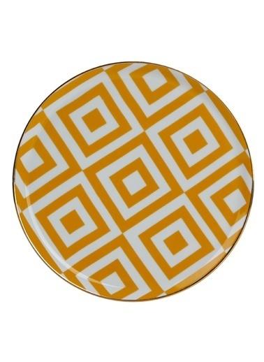 Porland Morocco Düz Tabak Desen4 Sarı 20cm Sarı